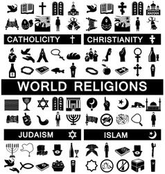 Icons for world religions vector