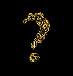 Decorated question mark vector