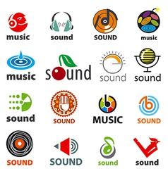 Big set of logos sound and music vector