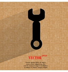 Wrench tool to work flat modern web design on a vector