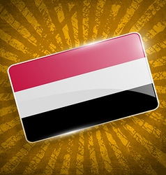 Flag of yemen with old texture vector