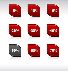 Discount icons vector