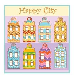 Happy city vector