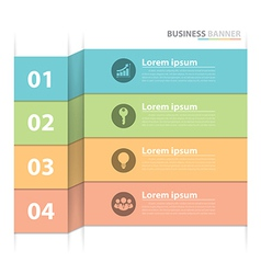 Business banner infographics vector