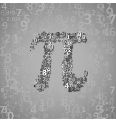 The mathematical constant pi vector