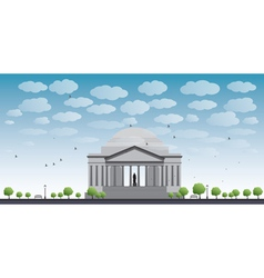 Thomas jefferson memorial in washington dc vector