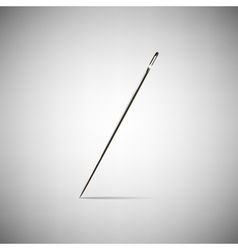 Needle for sewing vector