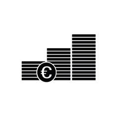 Finance money euro icon vector