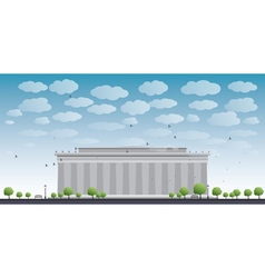 Abraham lincoln memorial in washington dc vector
