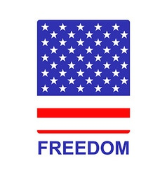 Freedom us flag badge vector
