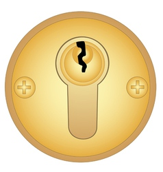 Gold keyhole vector