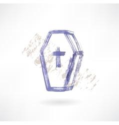 Coffin grunge icon vector
