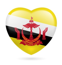 Heart icon of brunei vector