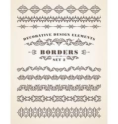 Ornaments borders decorative design elements vector