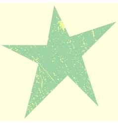 Green scratchy star vector