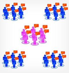 Group discussion vector