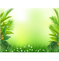 Beautiful tropical forest background vector