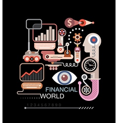 Financial world vector