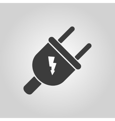 The electric plug icon electric plug symbol flat vector