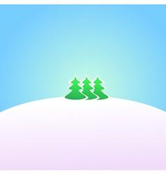Wallpaper winter landscape vector