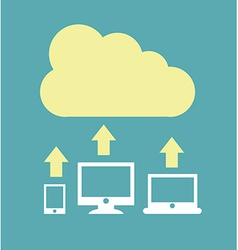 Cloud design vector