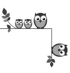 Owl break up vector