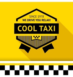 Taxi badge with shadow - 02 vector
