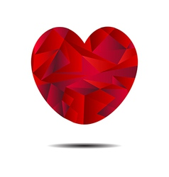Abstract red heart geometrical vector