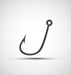 Icons fishhook vector
