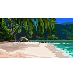 Landscape tropical coast vector