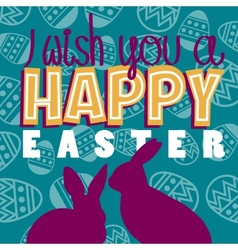I wish a happy easter vector