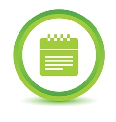 Green calendar icon vector