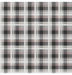 Black and white seamless tartan with a thin red vector