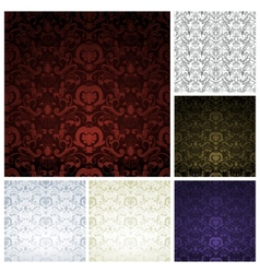 Pattern seamless set vector