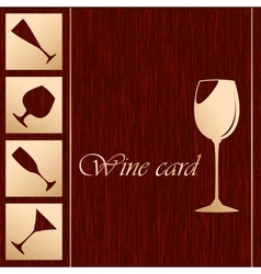 Template of alcohol card vector