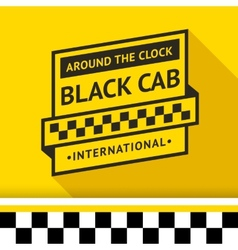 Taxi badge with shadow - 03 vector