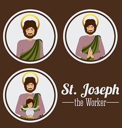 Holy family design vector