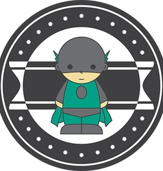 Child superhero design element vector