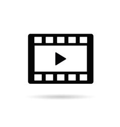 Film tape play vector