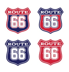 Route 66 highway sign vector