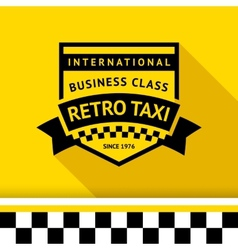 Taxi badge with shadow - 04 vector