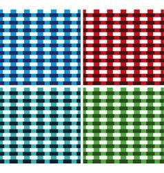 Seamless cross weave brick pattern vector