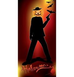 Pumpkin head murderer vector