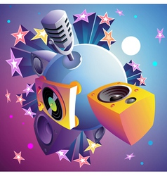 Disco party planet vector
