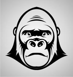 Gorilla face vector