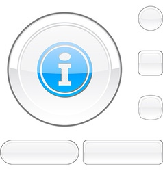 Info white button vector