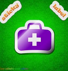 Medicine chest icon sign symbol chic colored vector