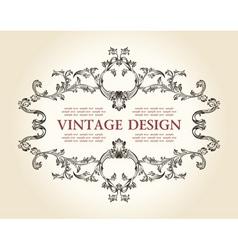 vintage royal old frame ornament decor text vector