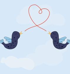 Birds song love vector