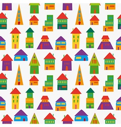 Cute house pattern vector